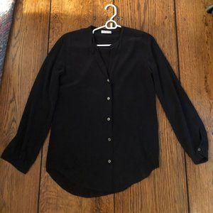 Black Silk Equipment Blouse Size XS